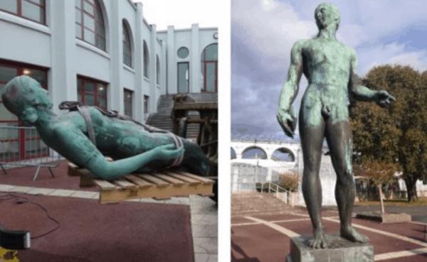 Restauration à ciel ouvert des sculptures de Marcel Damboise et d'Alfred Janniot au stade Chaban-Delmas
