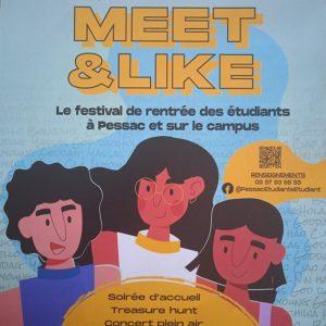 Meet & Like : Le festival de rentrée des étudiants à Pessac et sur le campus